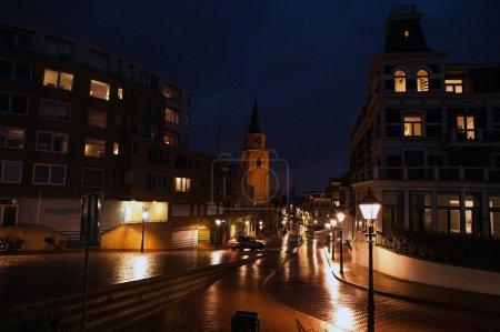 street at night at Hague