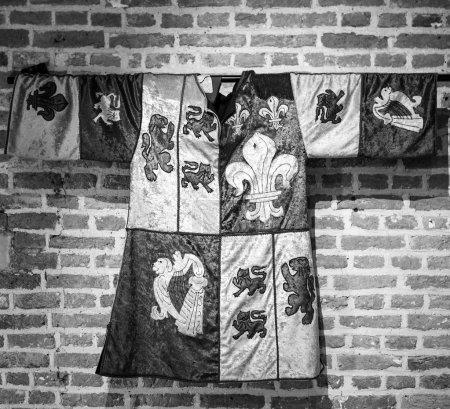 Photo pour Vêtements monarques médiévaux dans le château de Muiderslot. Pays Bas - image libre de droit