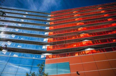 Photo pour Architecture moderne à Almere City, Pays-Bas - image libre de droit