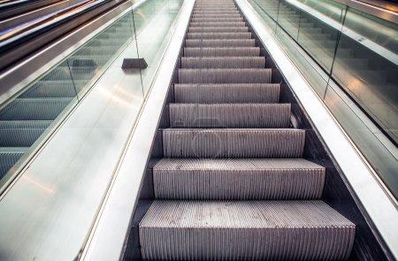 Empty escalator at station