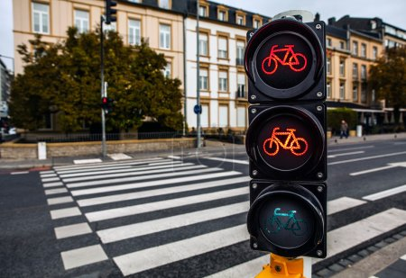 Traffic lights in city Luxembourg
