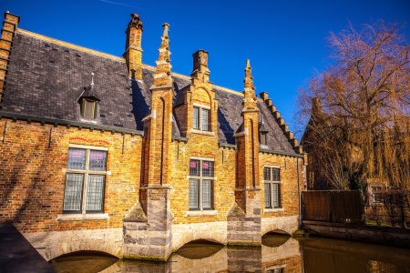 Ancient building of medieval Brugge, Belgium.