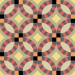 Vintage retro ceramic tile pattern set collection....