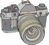 Vintage old photo camera