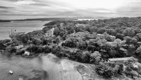 Balmoral Beach, Sydney. Beautiful aerial view of coastline