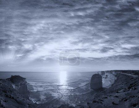 Amazing sunset scenario of Great Ocean Road - Australia