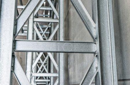 Steel bars inside warehouse