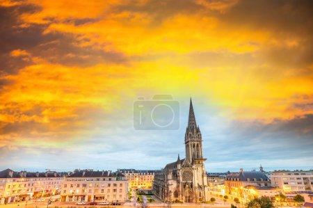 Caen wonderful sunset skyline