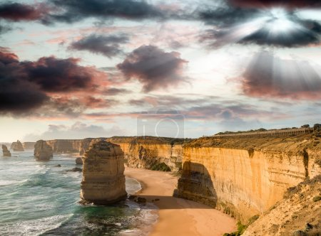Wonderful aerial view of 12 Apostles in Victoria, Australia