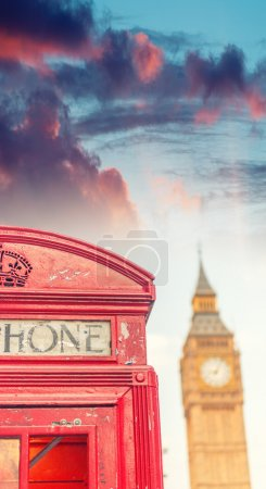 London public phone booth with Big Ben
