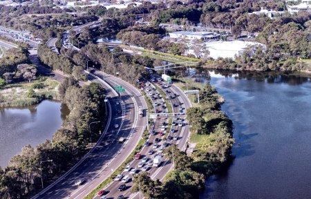 Photo for Aerial view of Sydney coastline, Australia. - Royalty Free Image