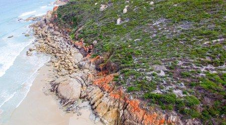 Wilsons Promontory coastline, aerial view