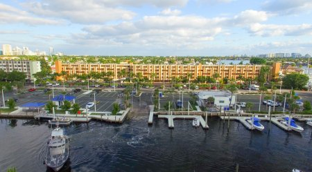 Aerial view of Fort Lauderdale canals, Florida