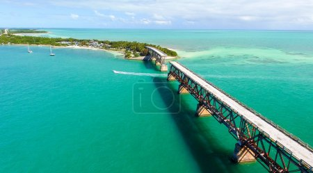 Bahia Honda Park, Keys Islands, Florida. Beautiful aerial view