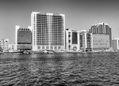 Old Dubai creek and buildings