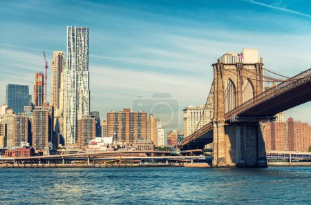 Magnificence of Brooklyn Bridge. New York City - USA
