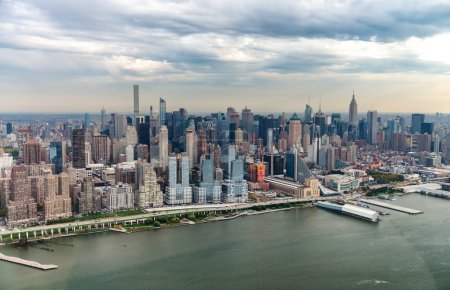 Aerial view of New York skyline