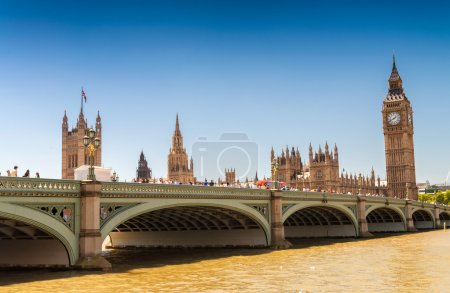 Panoramic view of Westminster Palace, Houses of Parliament