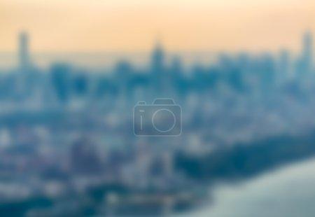 Photo pour Vision floue de gratte-ciel de Manhattan. - image libre de droit