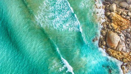 Aerial view of Squeaky Beach, Victoria, Australia