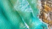 Aerial view of Squeaky Beach, Victoria, Australia