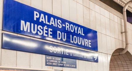 PARIS, FRANCE - NOVEMBER 29, 2012: Interior of Paris metro stati