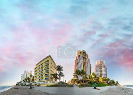 Fort Lauderdale Beach, Florida. Sunset view