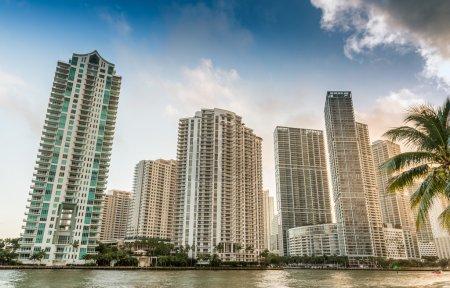 Brickell Key, Miami. Skyline from downtown