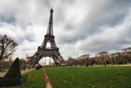 Eiffel Tower with vegetation