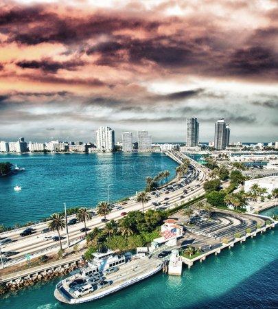 Miami along the sea