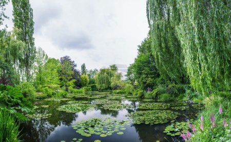 Wonderful panoramic view of Monet's garden
