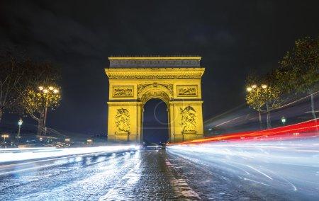 Traffic flow in Paris.