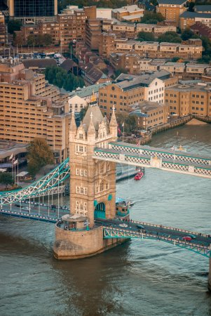 Aerial view of Tower Bridge