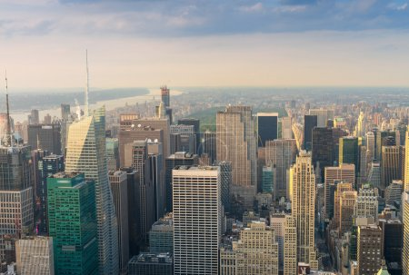 Spectacular aerial view of Manhattan.