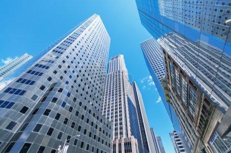 Buildings and skyline of Manhattan.