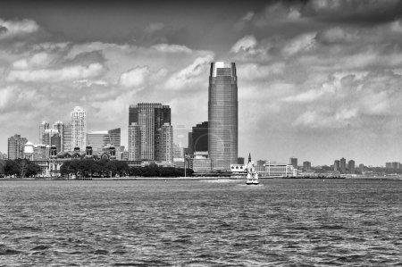 Jersey City skyline over Hudson river