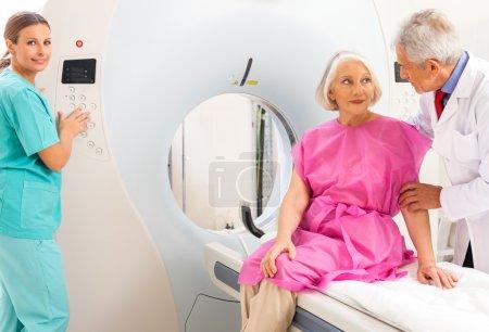 Mature female patient in 60s