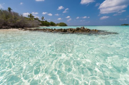 Photo for Amazing beach of Picnic Island, Alif Alif Atoll, Maldives. - Royalty Free Image