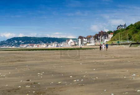 Deauville coast in Normandy - France