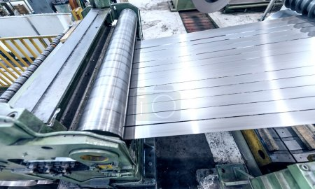 Industrial machine for steel cutting. Business and industrial co