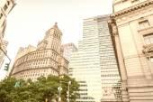 "Постер, картина, фотообои ""Потрясающий вид на небоскребы Манхэттена"""