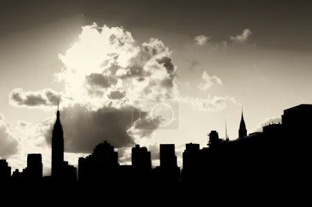 Manhattan silhouette skyline