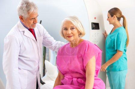 Patient undergoing mri scan