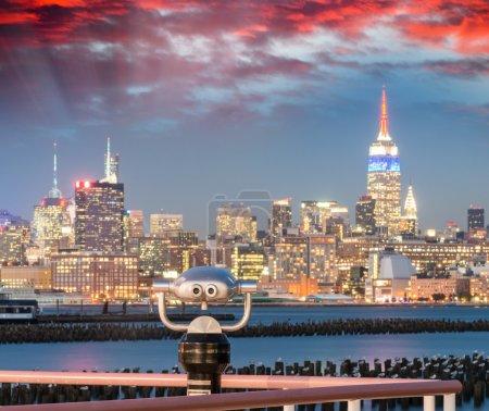 New York at dusk. Skyline from Hoboken