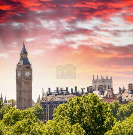 Houses of Parliament sunset view