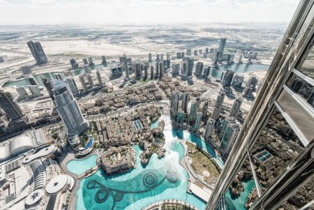 Photo for Dubai skyline, aerial view. - Royalty Free Image