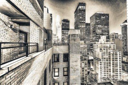 Foto de Skyline de la ciudad de Nueva York. Edificios y rascacielos panorama. Estados Unidos - Imagen libre de derechos