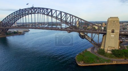Sydney Harbour view from helicopter
