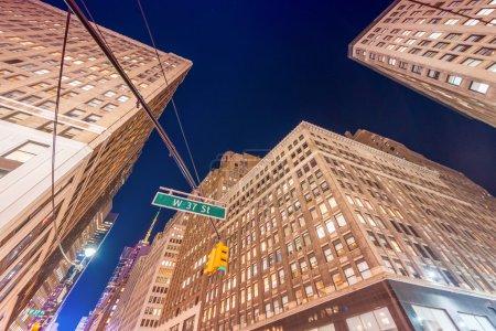 Night street view of Midtown Manhattan, New York