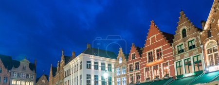 Medieval architecture in Grote Markt Square, Bruges